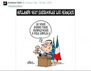 twitter - hollande - l'humour noir