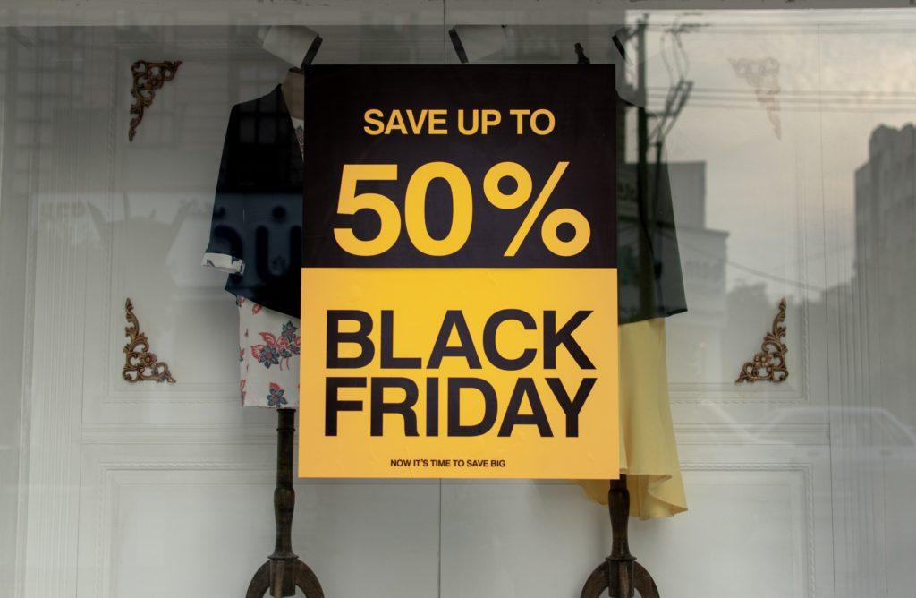 panneau de promo black friday