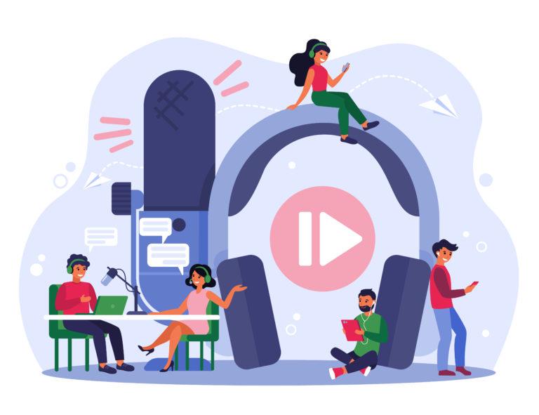 Radio broadcasting podcast